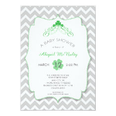 NEUTRAL St Patrick's Day Baby Shower Invites at Zazzle