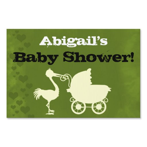 neutral stork personalized baby shower yard sign zazzle