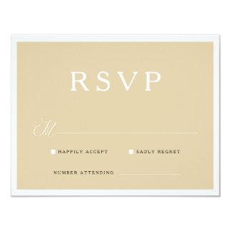 Neutral Tan Simple RSVP card