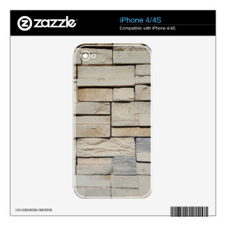 Neutral Ted Randomly Placed Brick Pattern Skins For iPhone 4S
