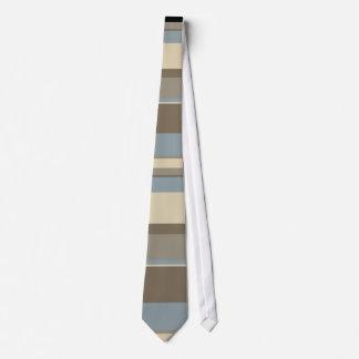 Neutral Tonal Stripes Design Neck Tie
