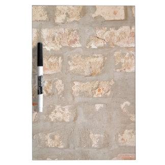 Neutral Tones Customizable Brick Wall Pattern Dry-Erase Board