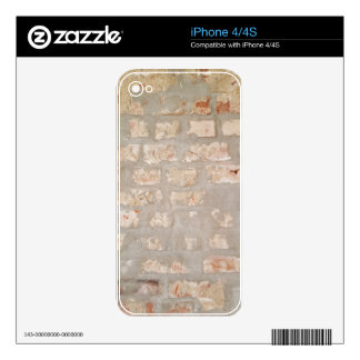 Neutral Tones Customizable Brick Wall Pattern iPhone 4 Decal