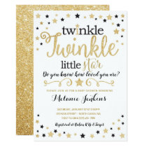 Neutral Twinkle Little Star Baby Shower Invitation