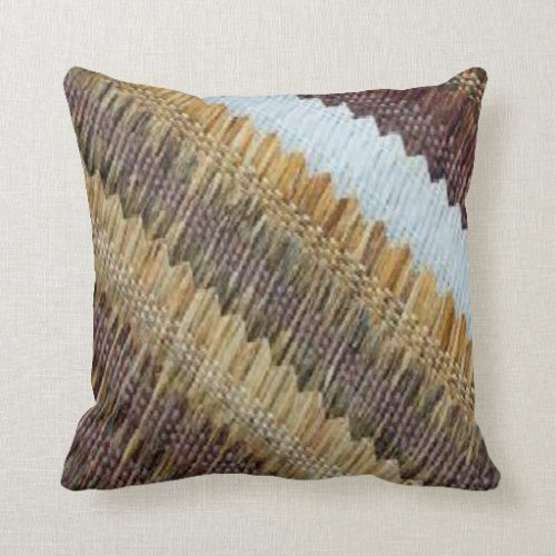 Neutral Weave Design Pillow - vintage throw pillow