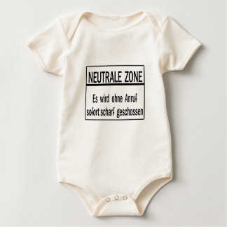 Neutrale Zone, Berlin Wall, Germany Sign Baby Bodysuit