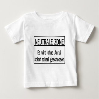 Neutrale Zone, Berlin Wall, Germany Sign Baby T-Shirt