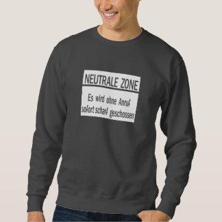 Neutrale Zone, Berlin Wall, Germany Sign Pullover Sweatshirt