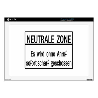 """Neutrale Zone, Berlin Wall, Germany Sign Decal For 17"""" Laptop"""
