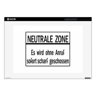Neutrale Zone, Berlin Wall, Germany Sign Laptop Skins