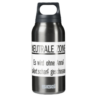Neutrale Zone, Berlin Wall, Germany Sign Thermos Bottle