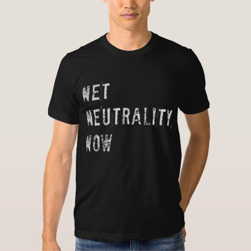 Neutralidad neta ahora (oscuridad) playera