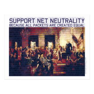 Neutralidad neta de la ayuda tarjeta postal