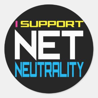 Neutralidad neta de Suppor Pegatina Redonda