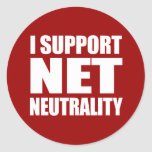 Neutralidad neta pegatina redonda