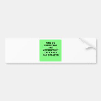 NEUTRINO.png Car Bumper Sticker