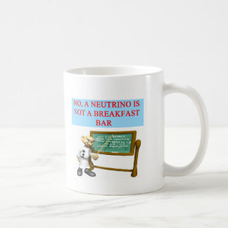NEUTRINO quantum mechanics physics joke Coffee Mug