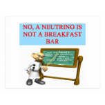 NEUTRINO quantum mechanics physics joke Postcard