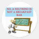 NEUTRINO quantum mechanics physics joke Sticker