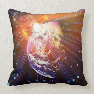 Neutrinos 2 throw pillow
