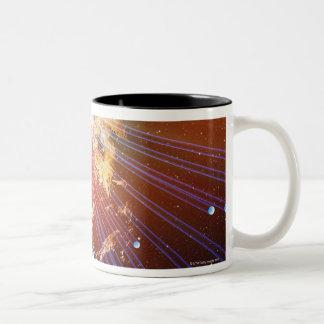 Neutrinos 2 Two-Tone coffee mug