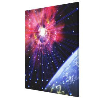 Neutrinos 3 canvas print