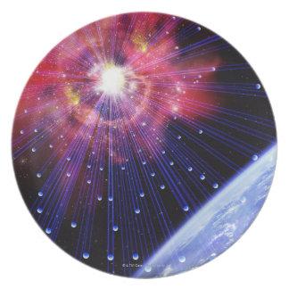 Neutrinos 3 party plate