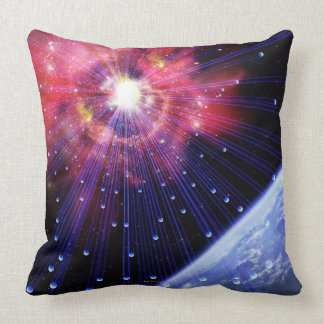 Neutrinos 3 throw pillow