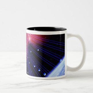 Neutrinos 3 Two-Tone coffee mug