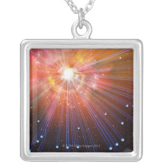 Neutrinos Silver Plated Necklace