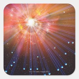 Neutrinos Square Sticker