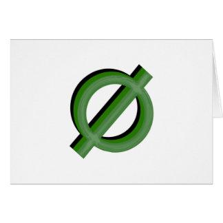 Neutrois 3d Green Greeting Card