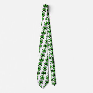 Neutrois flag fractal neck tie