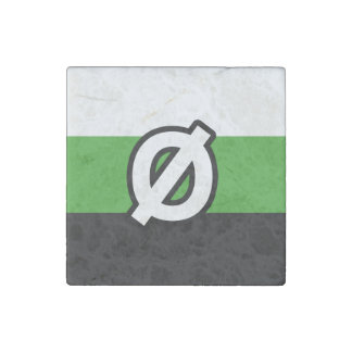 NEUTROIS PRIDE FLAG AND SYMBOL STONE MAGNET