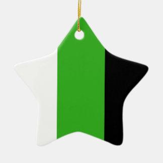 Neutrois pride flag ceramic ornament
