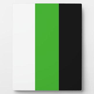 Neutrois pride flag plaques