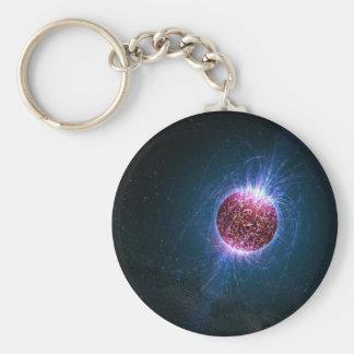 Neutron Basic Round Button Keychain