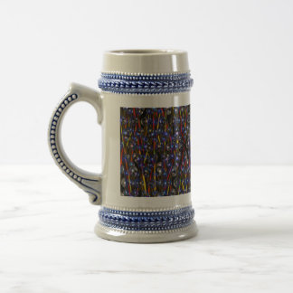 Neutron Rods Abstract art by Valxart.com Beer Stein