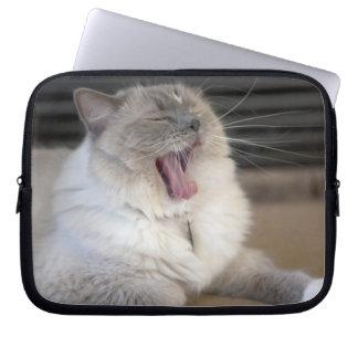 Neva Masquerade cat yawning Laptop Sleeve