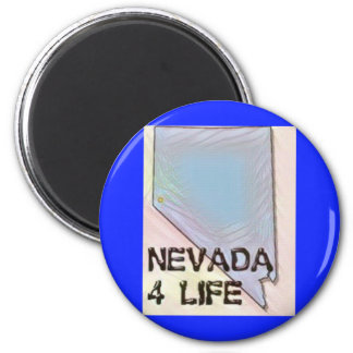"""Nevada 4 Life"" State Map Pride Design Magnet"