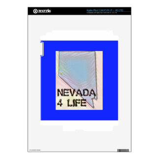"""Nevada 4 Life"" State Map Pride Design Skin For iPad 3"