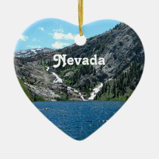Nevada Adorno Navideño De Cerámica En Forma De Corazón