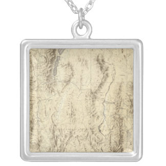 Nevada and Utah Silver Plated Necklace