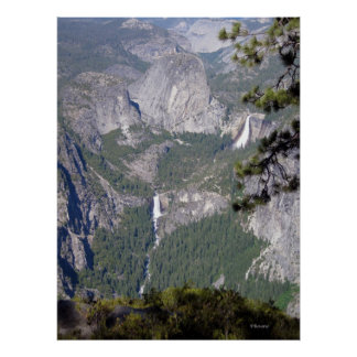 Nevada and Vernal Falls (Poster)