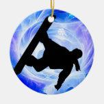 Nevada azul del remolino adorno de navidad
