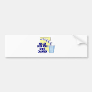Nevada Beer Pong Champion Bumper Sticker