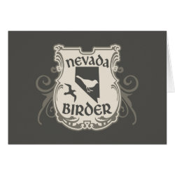 Greeting Card with Nevada Birder design