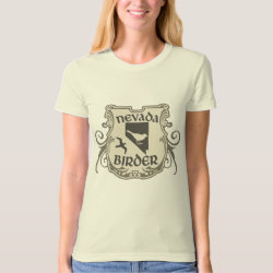 Women's American Apparel Organic T-Shirt with Nevada Birder design