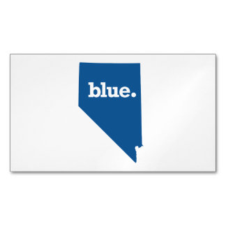 NEVADA BLUE STATE BUSINESS CARD MAGNET