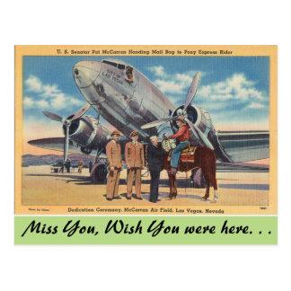 Nevada, campo del aire de McCarran, Las Vegas Tarjetas Postales